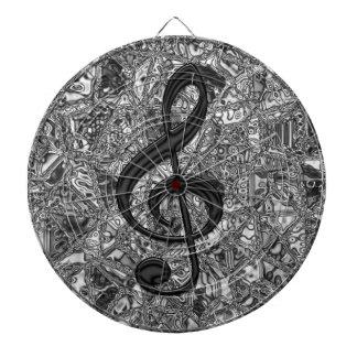 musicnote clef dartboard