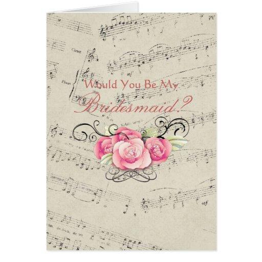 musicnotes románticos del vintage que casan a la d tarjeton