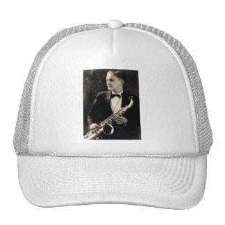 Músico 1925 del saxofón gorra