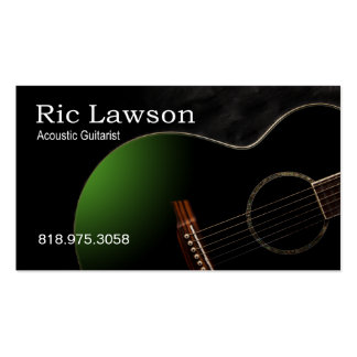 Músico acústico del guitarrista - tarjeta de la in plantillas de tarjetas de visita