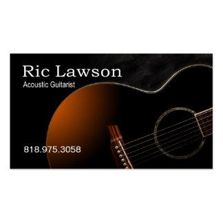 Músico acústico del guitarrista - tarjeta de la in tarjetas personales