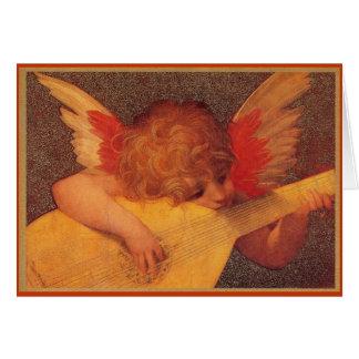 Músico angelical - navidad tarjeta de felicitación