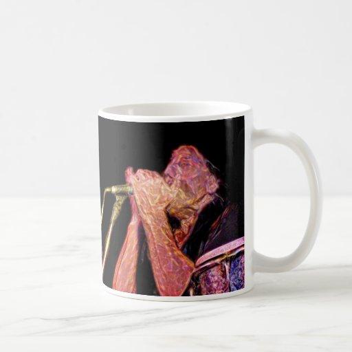 músico artístico de la versión del jugador de la a taza de café