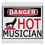 Músico caliente posters
