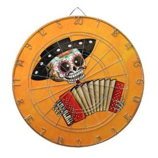 Músico de Dia de Muertos Skeleton Tabla Dardos