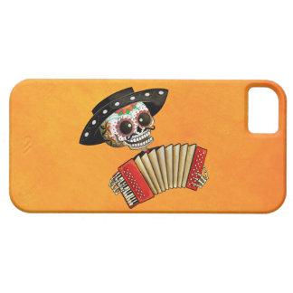 Músico de Dia de Muertos Skeleton iPhone 5 Protectores