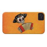 Músico de Dia de Muertos Skeleton iPhone 4 Funda