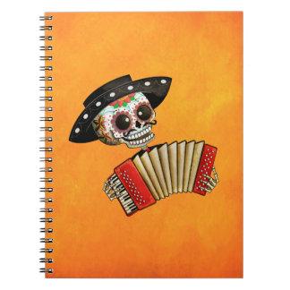 Músico de Dia de Muertos Skeleton Cuadernos