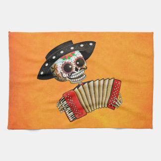 Músico de Dia de Muertos Skeleton Toalla