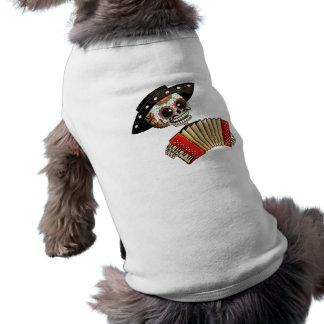 Músico de Dia de Muertos Skeleton Prenda Mascota