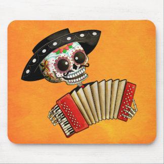 Músico de Dia de Muertos Skeleton Tapetes De Ratón