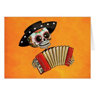 Músico de Dia de Muertos Skeleton Tarjetas