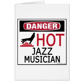 Músico de jazz caliente tarjeta de felicitación