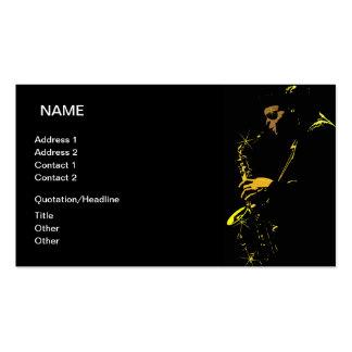Músico de jazz tarjetas de visita