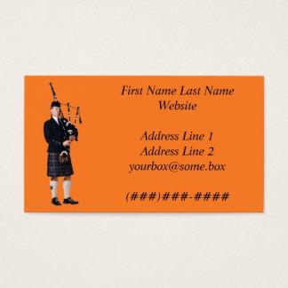 Músico de la gaita tarjetas de visita