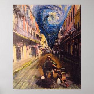 Músico de New Orleans Póster