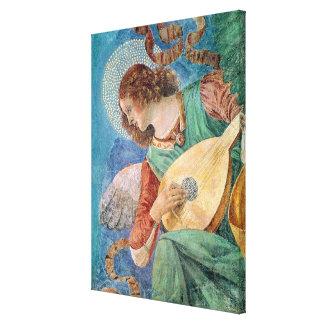 Músico del ángel impresión en lienzo estirada