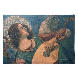 Músico del ángel manteles individuales