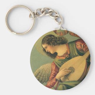 Músico del ángel, Melozzo DA Forli, arte Llavero Redondo Tipo Pin
