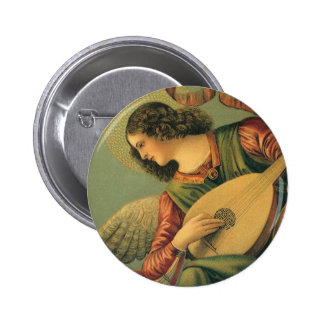 Músico del ángel, Melozzo DA Forli, arte Pin Redondo 5 Cm
