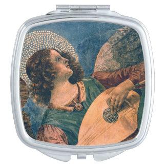 Músico del ángel espejos para el bolso