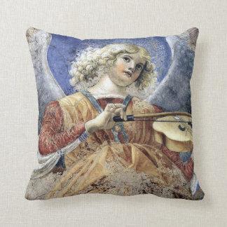 Músico del ángel por la impresión de Melozzo DA Cojín