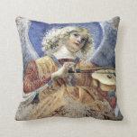 Músico del ángel por la impresión de Melozzo DA Cojín Decorativo