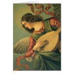 Músico del ángel por Melozzo DA Forli, navidad Felicitacion