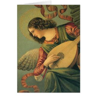 Músico del ángel por Melozzo DA Forli navidad Felicitacion
