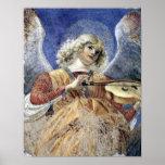 Músico del ángel por Melozzo DA Forli Póster