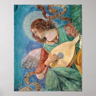 Músico del ángel póster