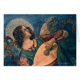 Músico del ángel tarjeta de felicitación