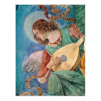 Músico del ángel postal