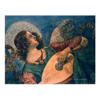 Músico del ángel tarjetas postales