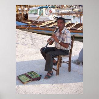 Músico del Cretan Póster