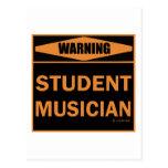 Músico del estudiante postal