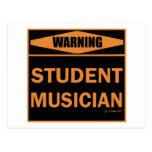 Músico del estudiante postales