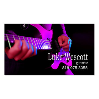 Músico del guitarrista para la tarjeta de la indus plantillas de tarjeta de negocio