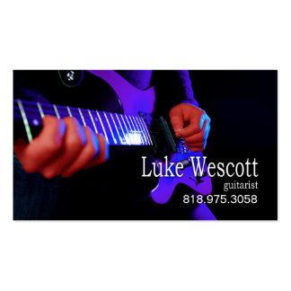 Músico del guitarrista para la tarjeta de la indus tarjetas de visita