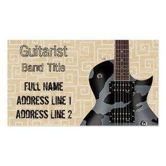 Músico del heavy/del metal tarjetas de visita