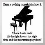 Músico del pianista del poster del pianista