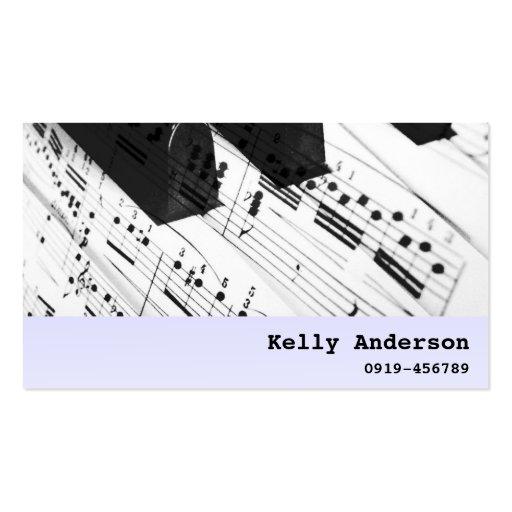 Músico del pianista/del profesor particular del pi tarjetas de visita