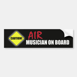 Músico del Precaución-Aire a bordo Etiqueta De Parachoque