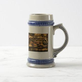Músico - dos cuernos y un violín taza de café