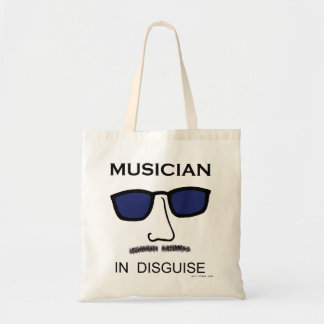 Músico en disfraz bolsa