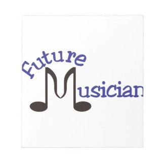 Músico futuro blocs de papel