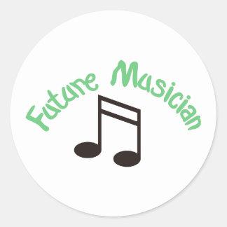 Músico futuro pegatina redonda