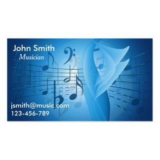 Músico independiente, música del músico de la tarjetas de visita