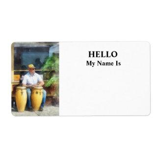 Músico - jugar los tambores de bongo etiquetas de envío