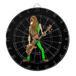 músico largo green.png del hombre de la guitarra d tablero dardos